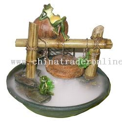 Frogs And Bamboo Tabletop Fountain From China