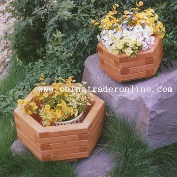 Wooden Planter Set