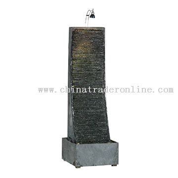 Slope Ripple Slate Water Fountain