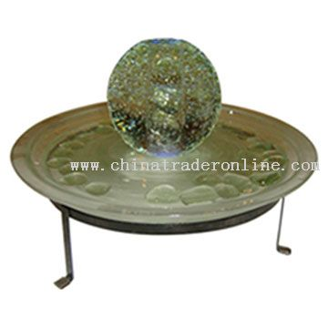 Sphere Ball Glass LED Table Fountain