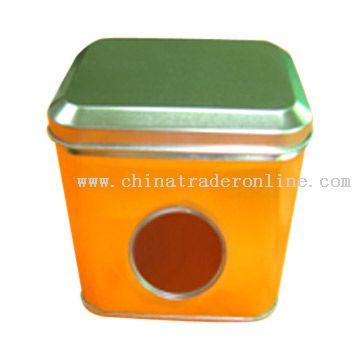 Tin Box with Clear Window