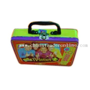 Tin Box with Plastice Handle