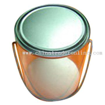 Tin Can with Clear PVC Body