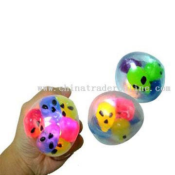 Flashing Squeeze Alien Ball