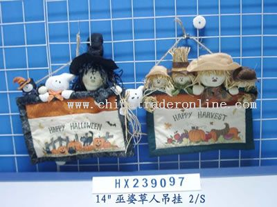 carlin straw hanging decorations 2/s