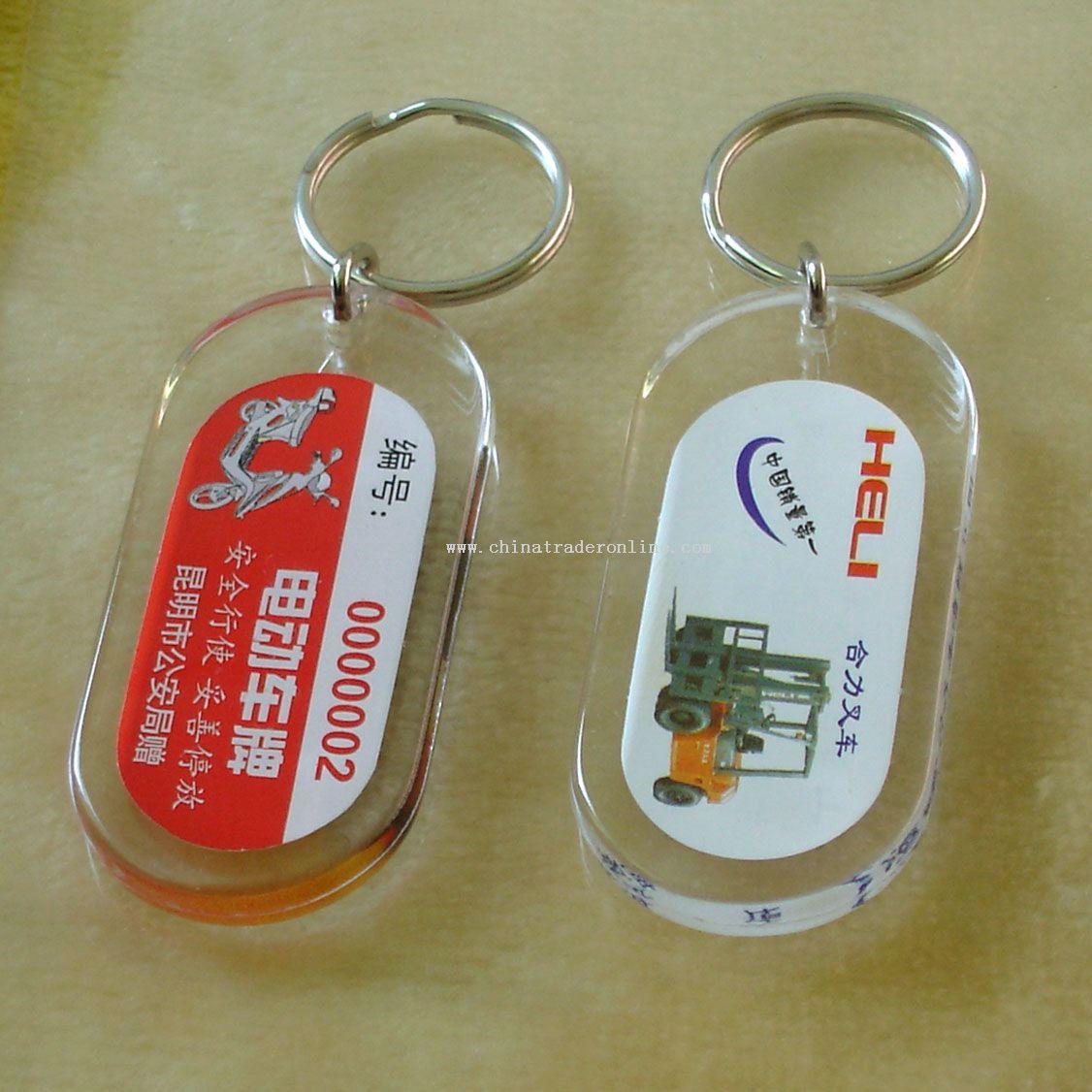 Acrylic solid keychain