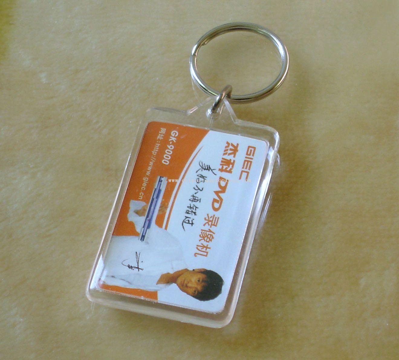 Acrylic ultrasonic keychain