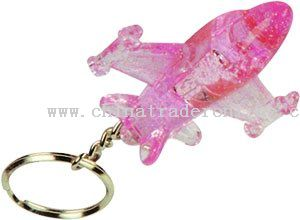 LED Light-Up Crystal Plane Key Chain from China