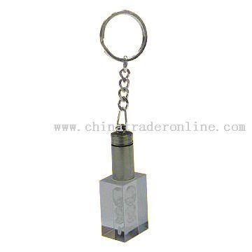Button Crystal Key Tag