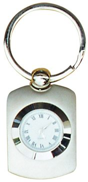 Metal Key Chain With Clock