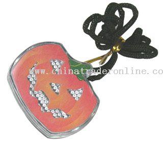 LED Light-Up Pumpkin Key Chain