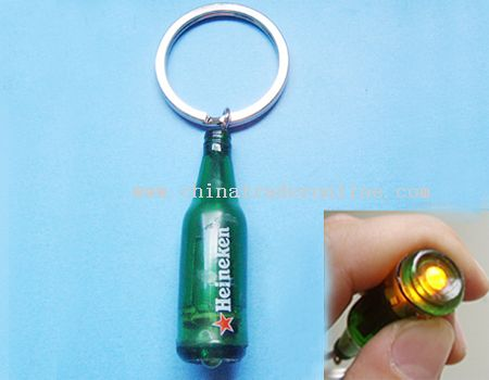 Bottle-Shaped LED Keychain Light