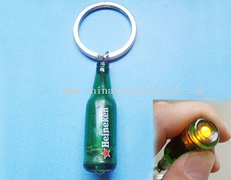 Bottle-Shaped LED Keychain Light from China