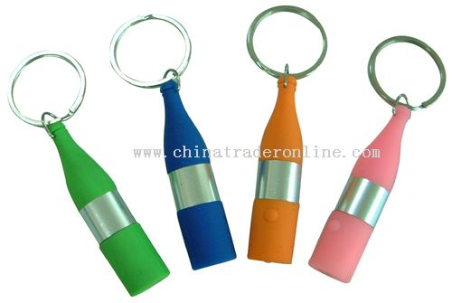 Silicone LED torch Key Chain