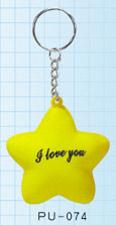 PU Star shape Keychain