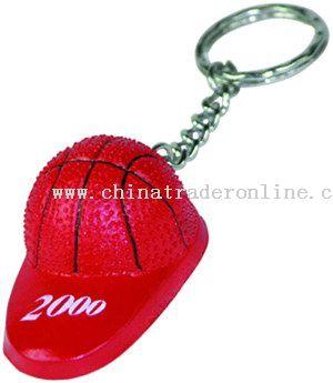 Basketball Cap Opener Key Chain
