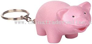 PU Cartoon Pig Key Chain from China