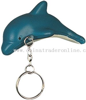 PU Dolphin Keychain from China