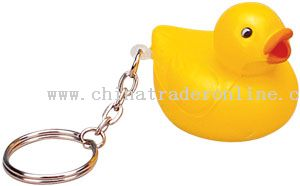 PU Duck Keychain from China