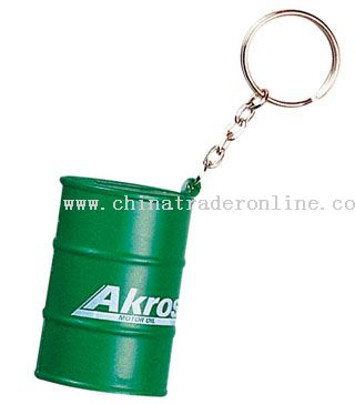 PU Oil Drum Keychain