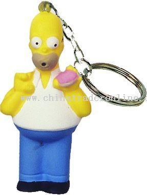 PU Simpsons Father Keychain