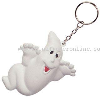 Pu Ghost Keychain