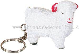 Pu Sheep keychain from China