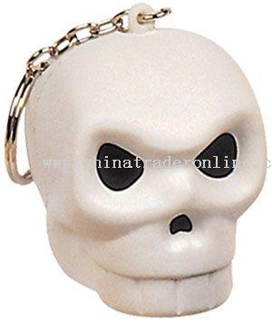 Pu Skull Keychain