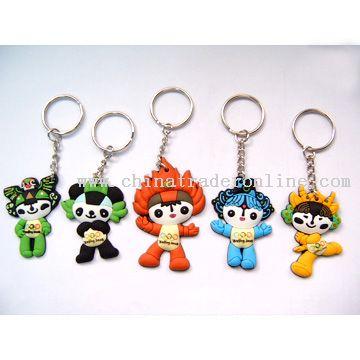 PVC Cartoon Keychains from China