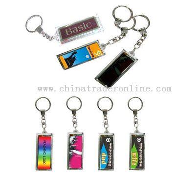 Solar Powered LCD Flashing Keychains