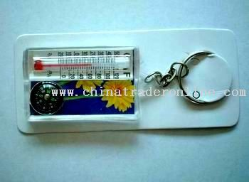 Compass and Thermometer and Key Button