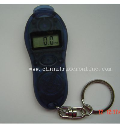 Keychain with Digital Tire Pressure Gauge