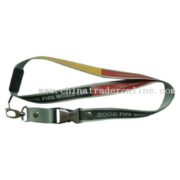 Metal Buckle Nylon Lanyard