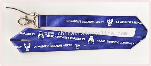 polyester(flat style) lanyard from China