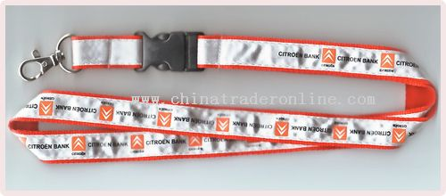 polyester stiched with satin(flat style) lanyard