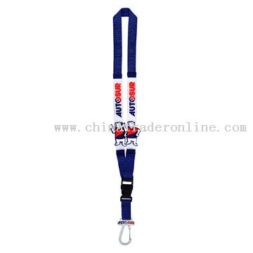 Polyester Lanyards with PVC Sticks