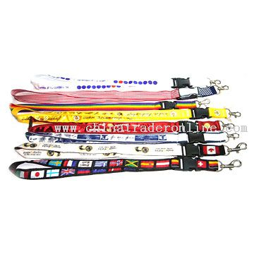 Polyester Woven Lanyards
