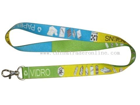 both sides and five colours Sublimation transfer lanyard