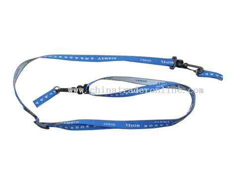 one side and one colour woven lanyard