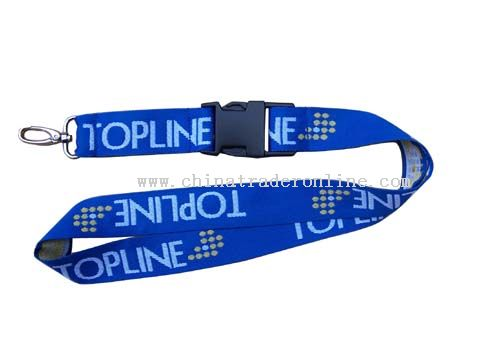 woven logo printing and three colours lanyard