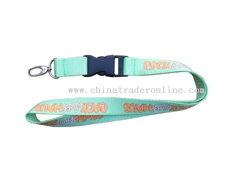both of side and three colours nylon lanyard