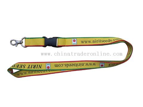 both of sides and four colours polyester lanyard