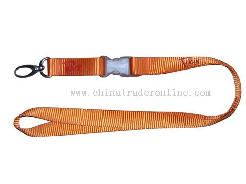 both side and one colours nylon lanyard