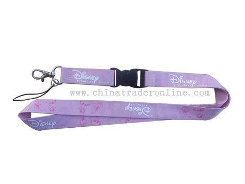 metal carbine hook,detachable buckle silk screen printing lanyard