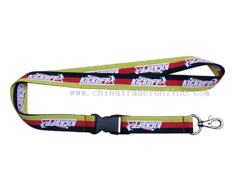 one side and four colours Silk screen printing lanyard