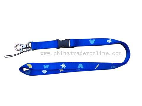 one side and three colours nylon lanyard