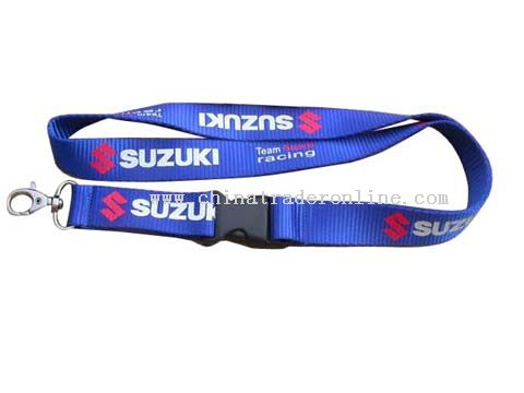 one side and two colour silk screen printing lanyard