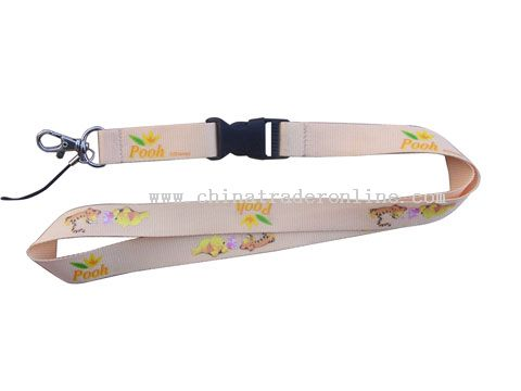polyester silk screen printing lanyard