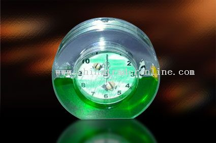 Floating liquid Clock