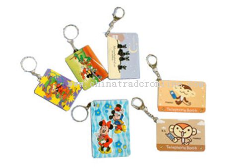 Magnetic Telephone book with Keychain